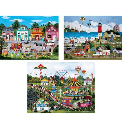 Set of 3: Jane Wooster Scott 300 Large Piece Jigsaw Puzzles