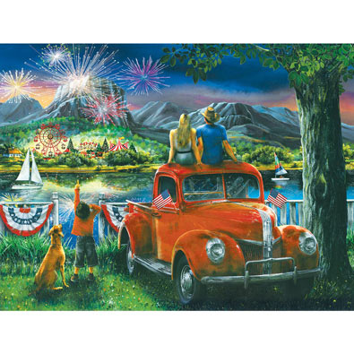 Celebration Across the River 300 Large Piece Jigsaw Puzzle
