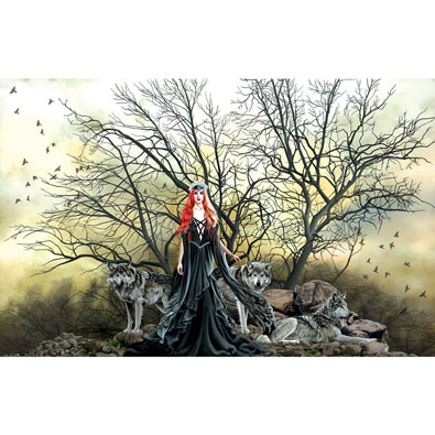 Red Haired Witch 1000 Piece Jigsaw Puzzle
