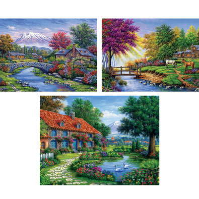 Set of 3: Arturo Zarraga 550 Piece Jigsaw Puzzles