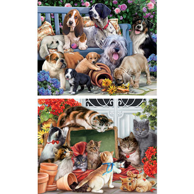 Set of 2: Pet 1000 Piece Jigsaw Puzzles
