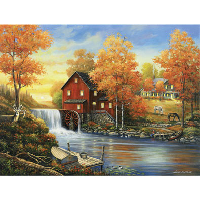 Sunset at the Old Mill 300 Large Piece Jigsaw Puzzle