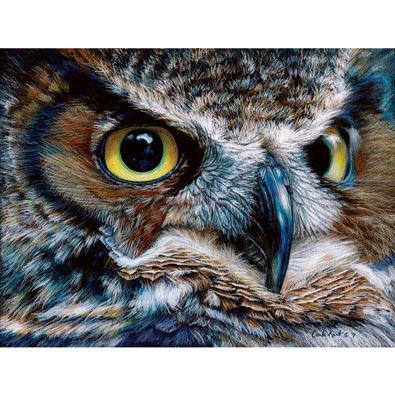 Dark Owl 1000 Piece Jigsaw Puzzle