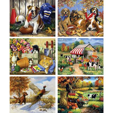 Set of 6: Linda Picken 1000 Piece Jigsaw Puzzles