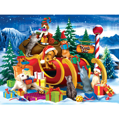 Opening Presents 300 Large Piece Jigsaw Puzzle
