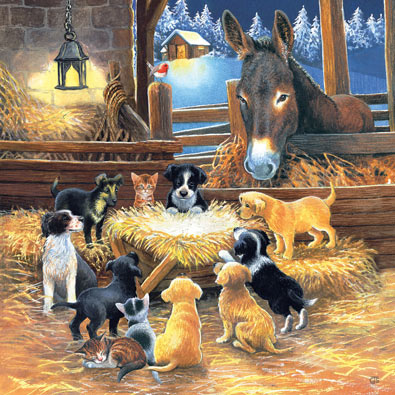 Barnyard Nativity 500 Piece Jigsaw Puzzle