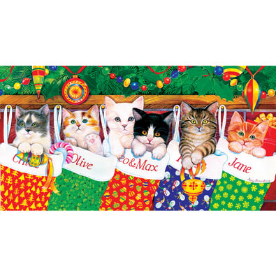 Stocking Kittens 500Piece Jigsaw Puzzle