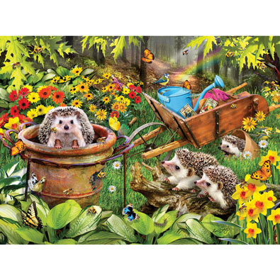 Hedgehogs & Bees 300 Large Piece Jigsaw Puzzle