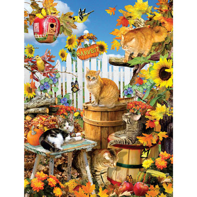 Harvest Kittens 300 Large Piece Jigsaw Puzzle