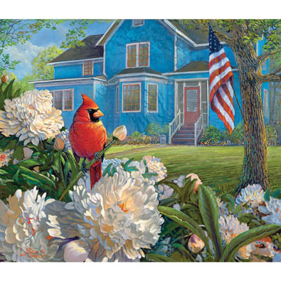 Red, White and Blue Visitor 550 Piece Jigsaw Puzzle