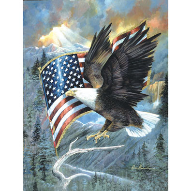 American Eagle 500 Piece Jigsaw Puzzle