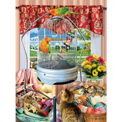 Bird Cage 300 Large Piece Jigsaw Puzzle