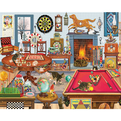 Kittens in the Poker Room 1000 Piece Jigsaw Puzzle