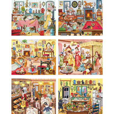 Set of 6: Rosiland Solomon 1000 Piece Jigsaw Puzzles