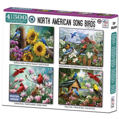 North American Song Birds 4 in 1 Multipack Set