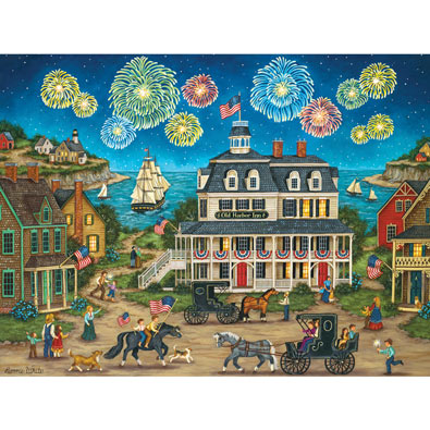Fireworks Finale 550 Piece Jigsaw Puzzle