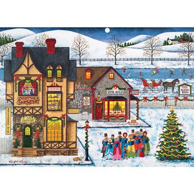 Main Street Carolers 1000 Piece Jigsaw Puzzle