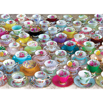 English Tea Cups 1000 Piece Jigsaw Puzzle