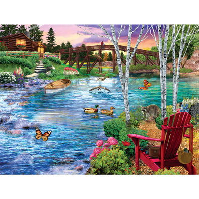 Bridge Fishing 500 Piece Jigsaw Puzzle