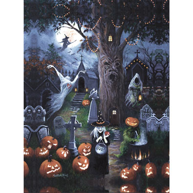 Halloween Night 300 Large Piece Jigsaw Puzzle