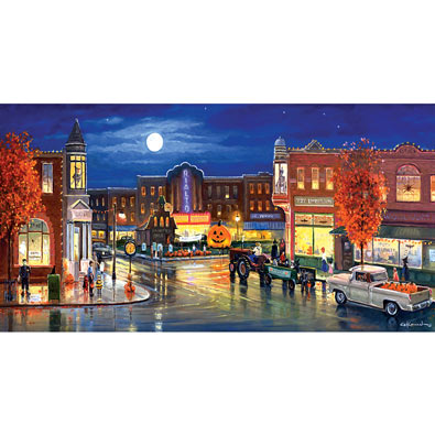 Halloween in the City 500 Piece Jigsaw Puzzle