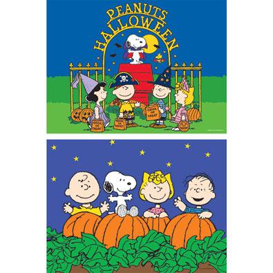 Set of 2: Halloween Peanuts® 100 Piece Jigsaw Puzzles