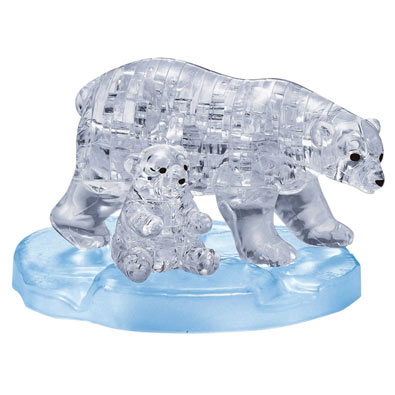 Polar Bears 3D Crystal Puzzle