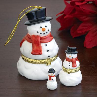 Nesting Snowmen Ornament