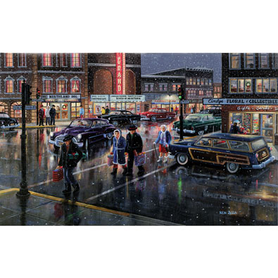 Christmas Crosswalk 300 Large Piece Jigsaw Puzzle