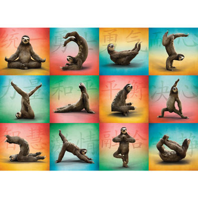 Sloth Yoga 1000 Piece Jigsaw Puzzle