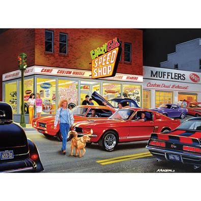 Crazy Ed's Speed Shop 1000 Pieces Jigsaw Puzzle
