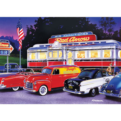Dinner at the Red Arrow 1000 Piece Jigsaw Puzzle