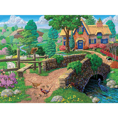 Fence Steps Cottage 1000 Piece Jigsaw Puzzle