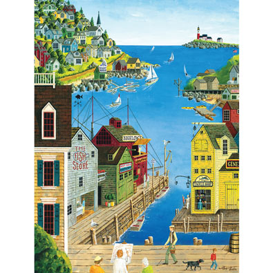 A Walk on the Pier 300 Large Piece Jigsaw Puzzle