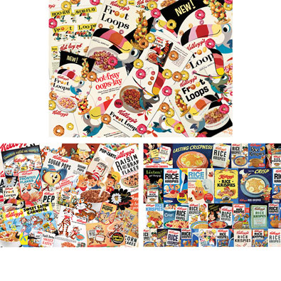 Set of 3: Retro Kellogg's® 1000 Piece Jigsaw Puzzles