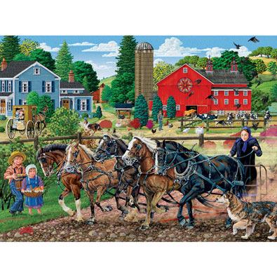 Five Horse Team 500 Piece Jigsaw Puzzle