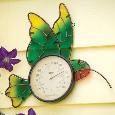 Hummingbird Outdoor Thermometer