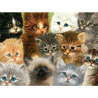 Cats 100 Large Piece Jigsaw Puzzle