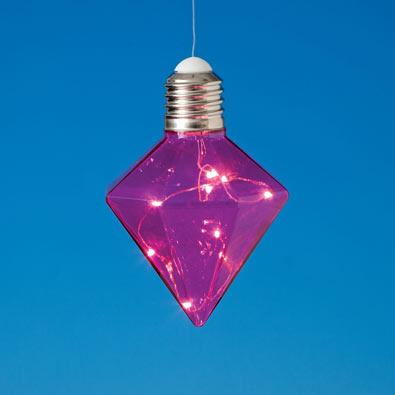 Pink Hanging Diamond Lights