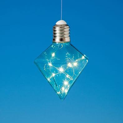 Blue Hanging Diamond Lights