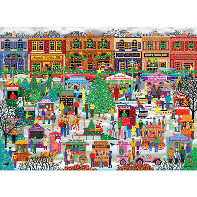 Downtown Holiday Festival 500 Piece Jigsaw Puzzle