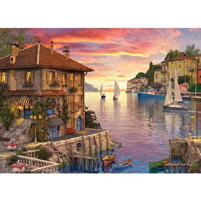 Mediterranean Harbor 1000 Piece Jigsaw Puzzle