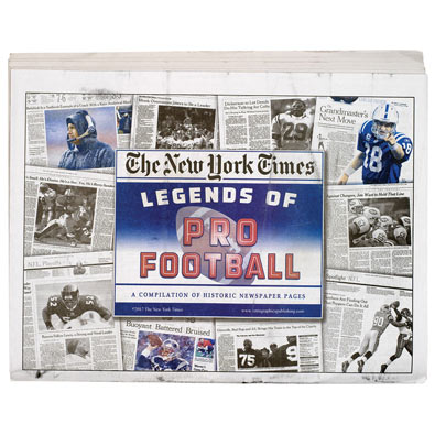 New York Times Legends of Sports- Football