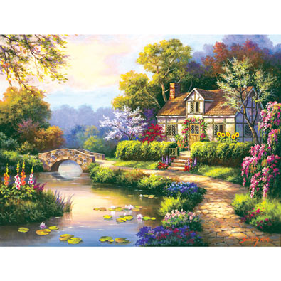Swan Cottage II 300 Large Piece Jigsaw Puzzle