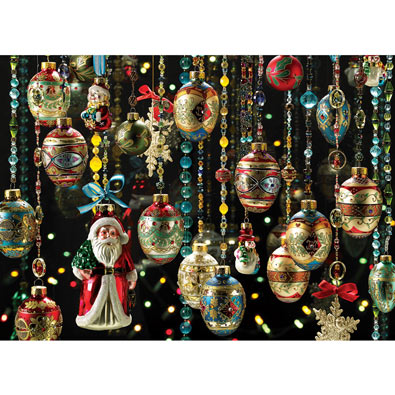 Vintage Christmas Ornaments 1000 Piece Jigsaw Puzzle