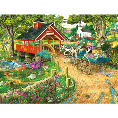 Home at the End of the Day 300 Large Piece Jigsaw Puzzle
