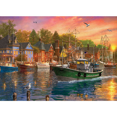 Harbor Sunset 1000 Piece Jigsaw Puzzle