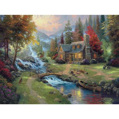 Mountain Paradise 1500 Piece Giant Jigsaw Puzzle