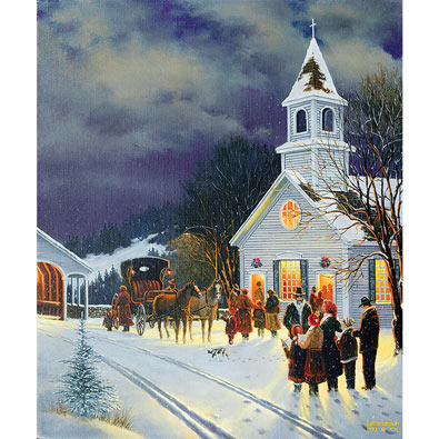 Winter Worship 300 Large Piece Jigsaw Puzzle