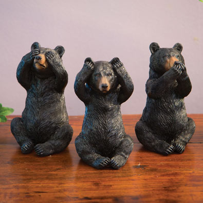 Hear, Speak, See No Evil Bears